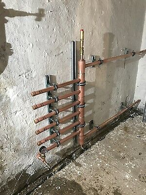 Copper heating manifold