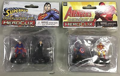 heroclix LOT 2x DC/MARVEL quick-start kits NEW, SEALED - Canada Seller
