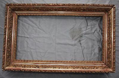 Beautiful Antique Gold Gilt Ornate Picture Painting Frame Holds 13.5 x 25.5