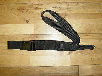 TAILOR MADE BLACK WEBBING QUIVER BELT 38mm QUICK RELEASE BUCKLE