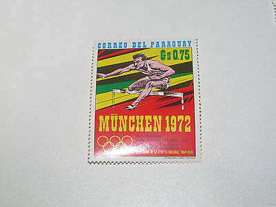 Timbre Poste Neuf Stamp TTB Paraguay Jeux Olympiques Munich 1972