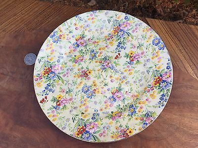 "ANTIQUE Royal Winton FLORAL FEAST Wright Tyndale & VR CHINTZ  9"" PLATE England"