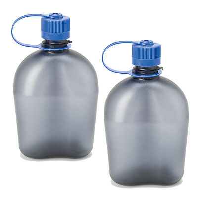 Nalgene Oasis 1qt Canteen Bottle Gray - 2 Pack