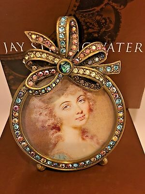 Picture Frame Signed Jay Strongwater Swarovski Crystals Signed by the Creator
