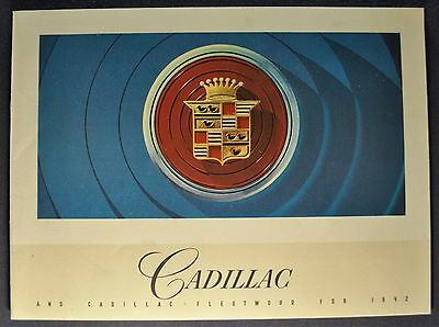1942 Cadillac Brochure 61 62 63 67 Fleetwood 60 Special 75 Excellent Original 42