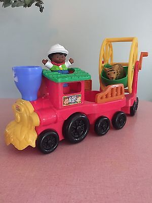 Fisher Price Little People Zoo Talkers Animal Sounds Zoo Train 2011 USED 2011