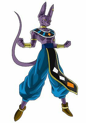 Sticker Autocollant Poster A4 Manga Dragon Ball Super Dbz Beerus