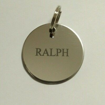 Dog Tag Pet ID Tag Dog Disc Stainless Steel Laser engraved both sides