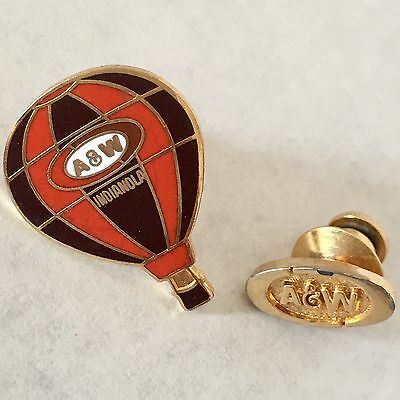A&W Root Beer Indianola Lapel Pin Hot Air Balloon Fiesta Enamel Hat Badge Lot