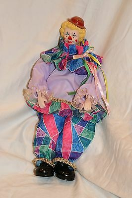 PORCELAIN DOLL clown doll COLLECTIBLE