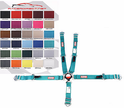 Youth Racing Harness Sfi 16.1 5 Point Cam Lock Turquoise  30 Colors To Choose