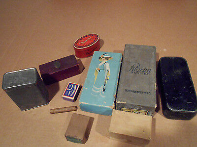 LOT OF 12 1940'S-60'S  Boxes Vintage PILGRIM, CURAD, MATCHES, LEAD MELOMINTS