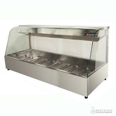 Hot Food Display Curved Front 6 Bay Benchtop Woodson W.HFC26 PANS NOT INCLUDED