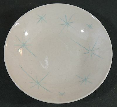 Royal China Celeste Turquoise Blue Atomic Star Starbursst Vegetable Serving Bowl