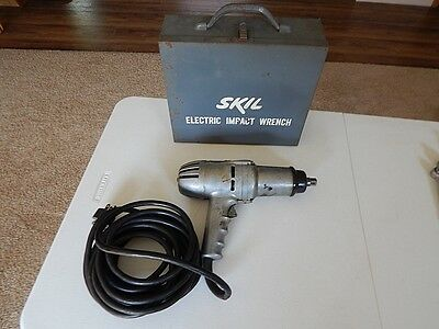 """1/2"""" Drive ELECTRIC IMPACT WRENCH in SKIL METAL CASE vintage corded gun Working"""