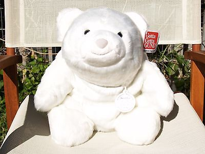 "Gund Limited 30Th Birthday 13.5"" Snuffles Bear- #319934 -Silver-Tipped White-New"