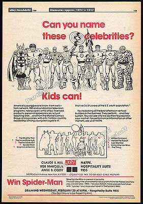 MARVEL COMICS Licensing__Original 1980 Trade AD poster__FANTASTIC FOUR_THOR_HULK