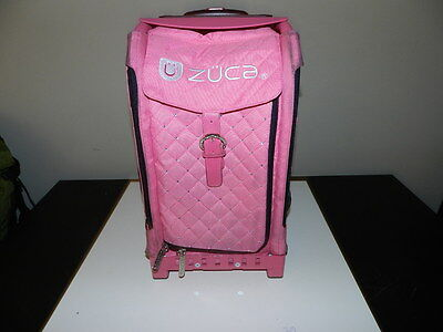ZUCA Sports Frame  Insert Bag Combination Pink set Ice Skating Wheeled Case