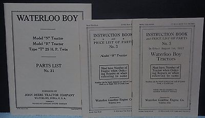 John Deere Waterloo Boy Tractor Parts List No. 21