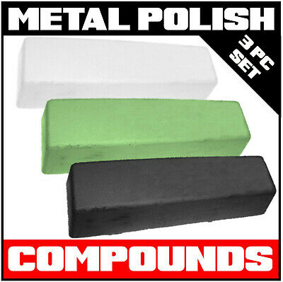3pc Set Metal Polishing Wax / Compound / Paste (Polish / Buffing all Metals)