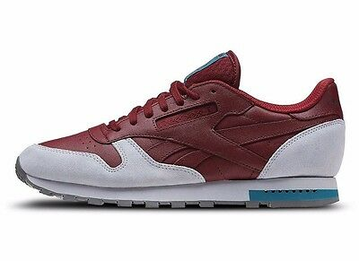 93bf5d843dfb REEBOK CLASSIC LEATHER GN Red   BD4413   Men CL Nubuck Burgundy Grey ...