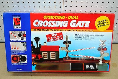 LGB/Life-Like #1964 Operating Dual Crossing Gate w/Sound & Lights *G-Scale* NEW