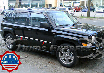 Fit 07-2015 Jeep Patriot 4PC Stainless Steel Chrome Window Sill Trim Made In USA