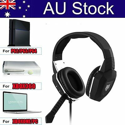 Gaming Handset 3.5mm Wired Stereo Headphones with Microphone for Xbox One OP