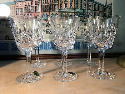 Set of 6 Quality Irish Waterford Crystal Wine Glasses