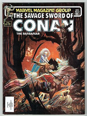 Savage Sword of Conan #91 Marvel Comics 1983 VF- Extremely Rare Double Cover