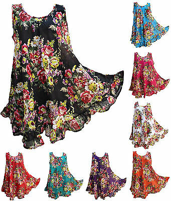 17 Colors Hippie Lagenlook Tunic Top Dress Boho Kaftan Size 18 20 22 24 26 28 30
