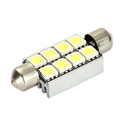 20x(42mm 8 SMD 5050 LED White Canbus Number Plate Light c5w Festoon Dome Bu X0U3
