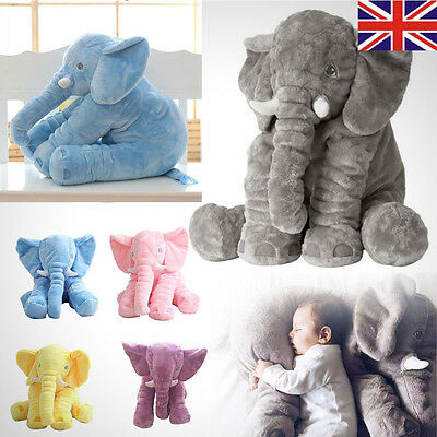 Long Nose Elephant Doll Pillow Soft Plush Stuff Toy Lumbar Pillow For Baby Kids