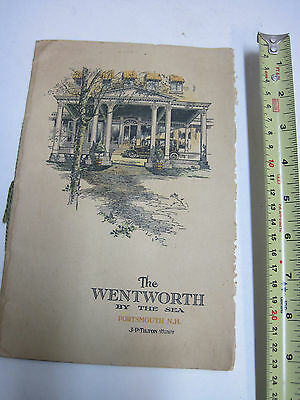 The Wentworth by the Sea Portsmouth NH Resort promotional booklet JP Tilton old