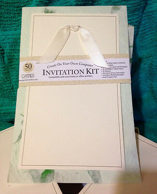 Gartner Studios Natural Handmade Paper Wedding Invitation Kit Set