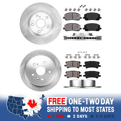 Front And Rear Brake Rotors & Ceramic Pads 2004 2005 2006 2007 Toyota Highlander