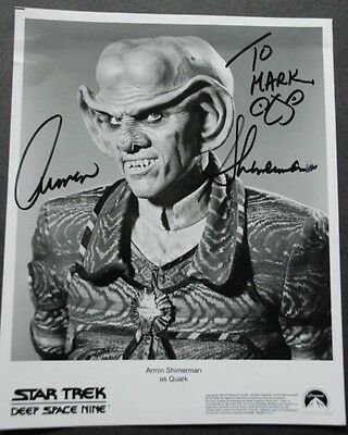 Star Trek: Deep Space Nine Autograph Of Armin Shimerman