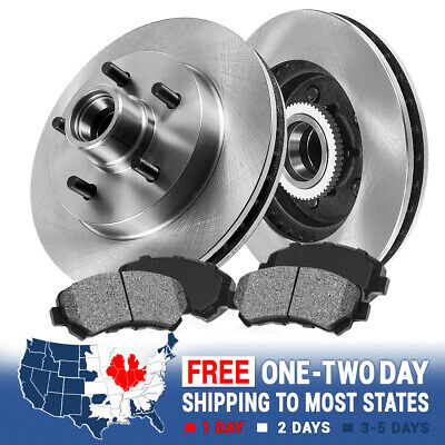 Front Brake Disc Rotors And Metallic Brake Pads For Ford Ranger Aerostar 2WD