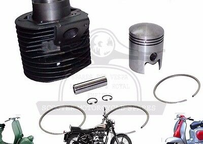 New Lambretta Gp200 Scooters Cylinder Barrel With Piston Kit @aud
