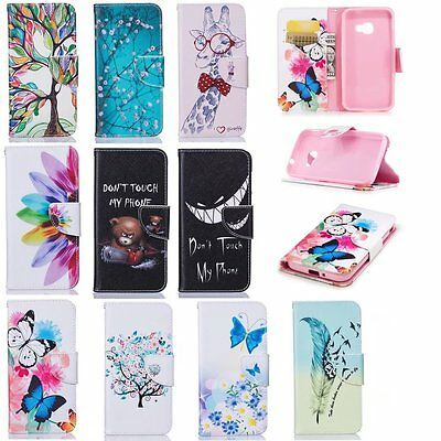 Patterned Magnetic Leather Wallet Case Stand Cover For Samsung Galaxy Xcover 4