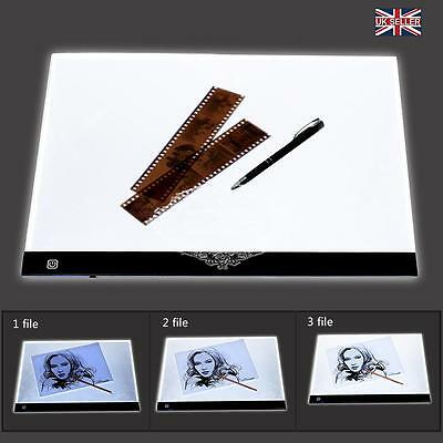 A3 Large LED Touch Dimmer Art Craft Tracing Tattoo Light Box Pad Board Lightbox