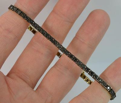 0.50 Carat Black Diamond 9ct Yellow Gold Bracelet p1087