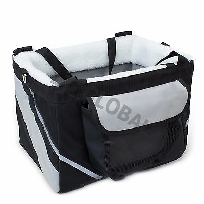 Pet Bike Carrier Bicycle Front Basket 600D Oxford removable pad