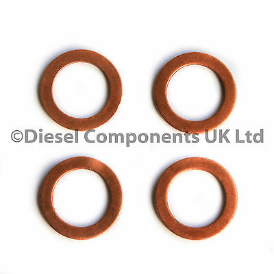 AUDI A4 8D2, B5 DCS124 1.9TDI DIESEL INJECTOR WASHERS // SEALS PACK OF 4