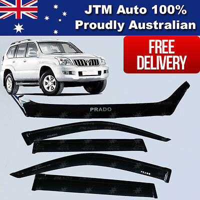 TOYOTA Prado 120 Bonnet Protector Guard Weather Shields Window Visors 2003-2009