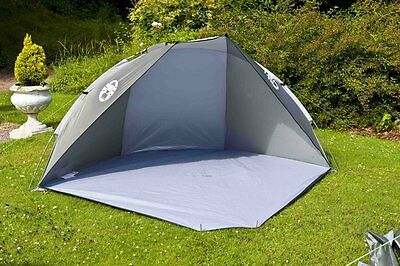Beach Shelter Sun Tent Camping Canopy UV Guard Outdoor Terra Large Open Khaki L