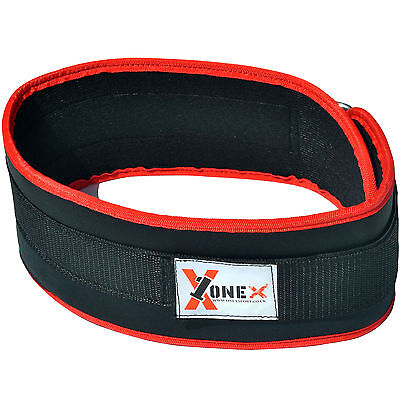 Pro Weight Lifting Belt Gym Back Support Power Training Lower Lumbar Pain Wide R