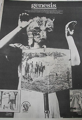 "GENESIS 1973 ADVERT FOR ""FOXTROT"" A3 FULL PAGE also trespass & nursery crimes"