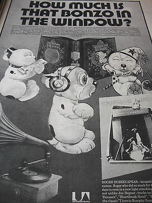 "Roger Ruskin Spear ""how Much Is That Bonzo In The Window"" Advert From 1974 A3"