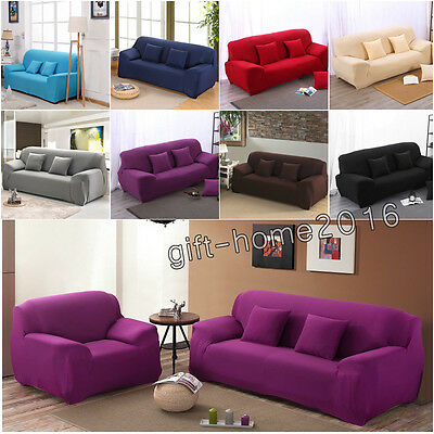 Spandex 1-4 Seater Lounge Couch Elastic Sofa Settee Seat Cover Slipcover Stretch
